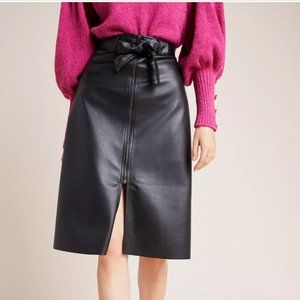 RETAIL $160 NEW Anthropologie Faux Leather Skirt